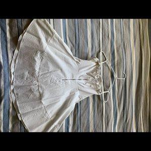 Express Dresses - White strapless dress